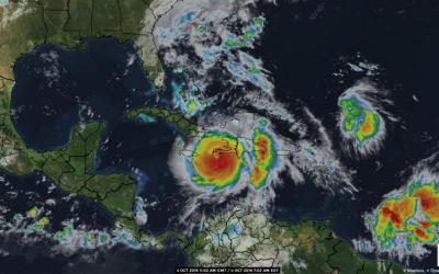 Orkanen Matthew over Haiti