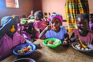 Skollunch i Ghana