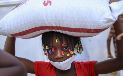 Matutdeling på Haiti