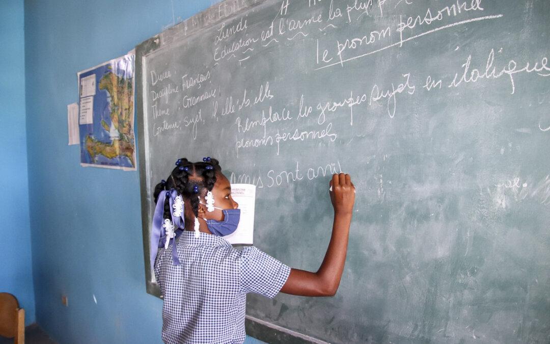 Støtte til skolestarten på Haiti