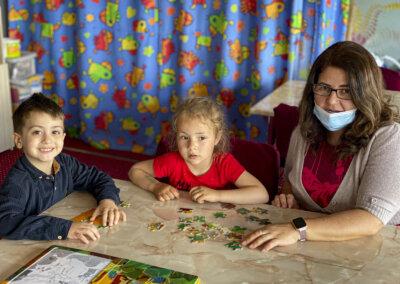 Tre inn i barnas fristed
